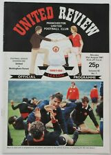 More details for manchester united home matches 1981/82 x 22 (complete) division 1 (ref 1181)