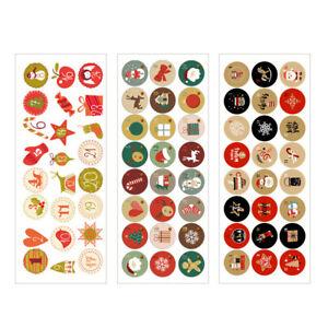 Christmas Advent Countdown Calendar Stickers Numbers Bag Label Seals 24Pcs/set