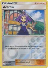 Pokemon Cards Acerola Trainer Burning Shadows Reverse Holo 112/147 NM