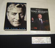 Tony Bennett Original 2014 Concert Program & Ticket Stub Plus The Good Life Book