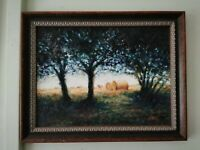 Original Oil Painting. Countryside Scene .Signed 'Countryside. Impressionist