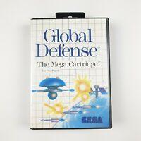 Global Defence   Sega Master System SMS PAL   Aus Ozisoft   Complete