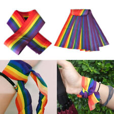 1pc Rainbow Bandanas Headband Gay Pride LGBT Neck Scarf Headwear Wristband NEW