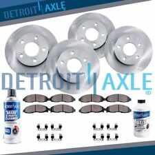 Front & Rear Rotor + Ceramic Pad 2011 2012 2013 2014 2015 Ford Edge Lincoln MKX