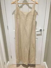 Gerard Darel Oatmeal Dress Size 40 Flax Linen Mix