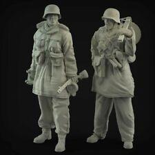 1/35 German Machine gunner 2 soldiers , Panzerknacker resin model kit WW2