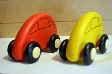 Two Wooden Cars Eco toy natural Car Vehicles Set - Great Gift