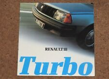 1980 RENAULT 18 TURBO Sales Brochure