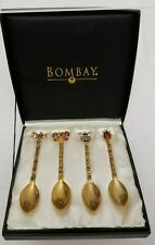 Bombay Jeweled Demitasse Insect/Bug Spoons, Ladybug Butterfly Dragonfly Bee