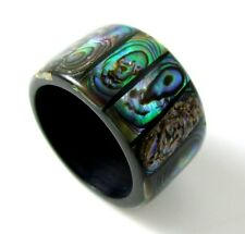 MOSAIC PAUA ABALONE SHELL Ring, size US 6 , BA074-A