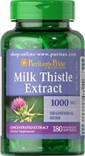 Puritans Pride Milk Thistle Extract 1000mg 90 or 180 Softgels Detox/liver Health