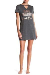 "TART INTIMATES ""Save Water Drink Rosé"" Mindy Choker Sleep Shirt Size M $62 NEW"
