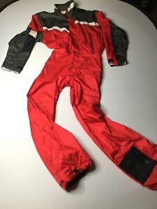 Vintage Serac Ski Suit One Piece red Mens Universal M Medium Snowboard Heli SKI