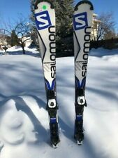 2017 Salomon XDrive Focus Skis with Bindings - Used 130cm Beginner Skis