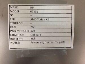 HP 6735b *Parts* AMD/2GB/BATT - No OS/HDD/CHRG