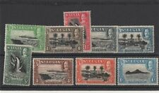 9 stamps from st.lucia values to a shilling