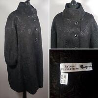 HELENA CHRISTENSEN Black Evening Jacket Sz 10 Dress Coat Patterned Shiny MONSOON