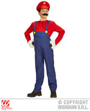 Childs Kids Plumber Boy Mario Fancy Dress Costume Computer Game Outfit 14-16 Yrs