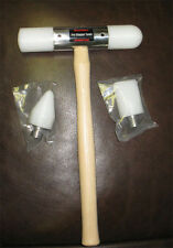 Metal Shaping Mallet Set: (Wooden Handle) with Delrin Heads