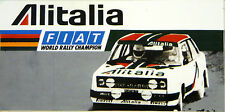 ALITALIA FIAT 131 ABARTH RALLY / Motorsport Adesivo Decalcomania