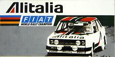 Alitalia Fiat 131 Abarth Rally / Motorsport Sticker Decal