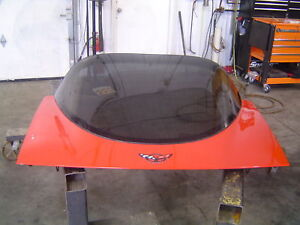 1997-2004 C5 Chevrolet Corvette Coupe OEM Rear Red Trunk Hatch & Glass