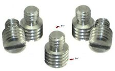 """5 X Male to Male 1/4"""" to 3/8"""" Tripod Steel ADAPTERS *five New adapter"""