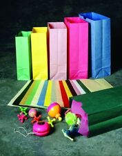 12 pc. Colored Paper Bags- You Choose The Color. Birthday Treat Party Bag Gift
