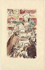 ILLUSTRATION de F.Salvat - Le Cousin PONS- H. de Balzac - 1948.