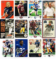 1998 & 2000 Assorted Fleer Football Trading Collector Cards  Lot of 12