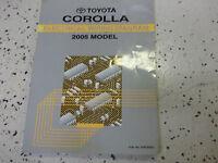 2005 Toyota COROLLA Electrical Wiring Diagrams Service Shop Repair Manual EWD