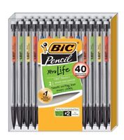 40 BIC Xtra Life Mechanical Pencils, Medium Point 0.7 mm