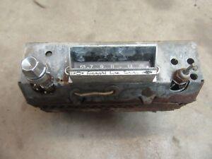 1959 1960 Chevrolet Impala Belair original AM radio insert parts knob trim