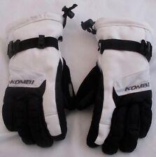 Kombi Kids White Black Lined Waterguard Gloves Junior SZ S New Storm Cuff