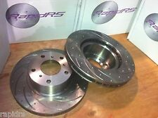 DISC BRAKE ROTORS TO SUIT NISSAN SKYLINE R34 GTT 2.5 TURBO SLOTTED PERFORMANCE