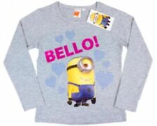 T-shirts, hauts et chemises gris coton mélangé à manches longues pour fille de 2 à 16 ans
