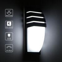 8 /15W LED Wall Lamp COB Outdoor Porch Waterproof Cuboid Aluminum Light Fixture