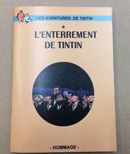 L'ENTERREMENT DE TINTIN   TBE 4 PAGES 21X15 pastiche parodie hommage