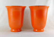 Superbe paire de vases design orange céramique d'art ELCHINGER FILS