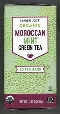 (1) Box Trader Joe's Organic Moroccan Mint (Spearmint) Green Tea - 20 Bags