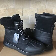 UGG ELIASSON BLACK WATERPROOF LEATHER HIKER DUCK SNOW BOOTS SHOES SIZE 8.5 MENS