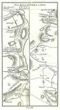 Antique map, Roads from Kilfenora to Kilrush, Portumna to Gort