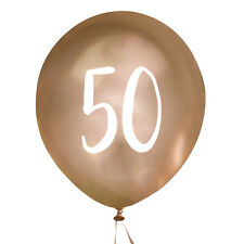 NEW GOLD LARGE 50TH BIRTHDAY BALLOONS 5 PACK ANNIVERSARY PARTY DECORATION