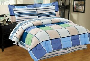 Adam 8-PC Twin-Full-Queen-King Bed Comforter Set w/ Sheets & Pillowcases