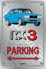 Parking Sign Metal MazdA RX3 4-door-08 - Checkerplate Look