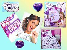 Disney Violetta Bed Linen Set Fan Cover Reversible Bedding 135x200- 48x74 Cm
