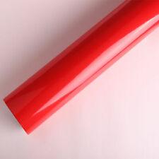 "12""x60"" Glossy Gloss Red Vinyl Wrap Film Car Sticker Decal Sheet Air Release"