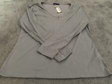 Boohoo Plus Rib Notch Front l/s T Shirt 22