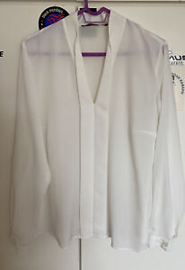 MARINA RINALDI  Off White Camicia Shirt Size 21 **bargain**