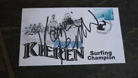 AUSTRALIAN SURFING CHAMPION KIEREN PERROW HAND SIGNED SURF COVER